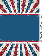 愛国心が強い, 背景, 旗, アメリカ人