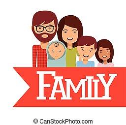 愛, デザイン, 家族