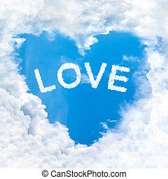 愛, 形, 単語, 雲, 心