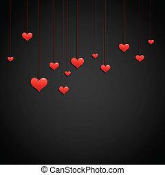 愛, 日, 背景, バレンタイン