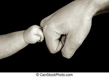 感動的である, お父さん, 赤ん坊