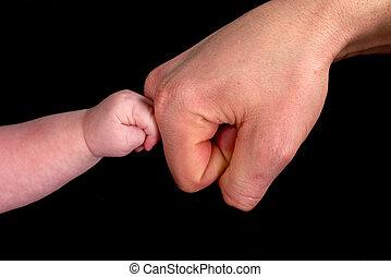 感動的である, 赤ん坊, お父さん
