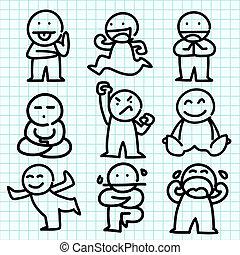 感情, グラフ, paper., 青, 漫画