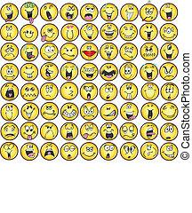 感情, emoticons, vectors, アイコン