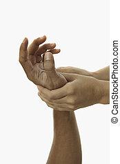 感触, 手, masseus's, 治癒