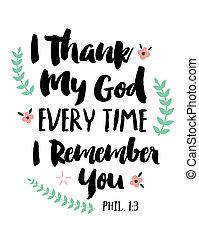感謝しなさい, 神, あらゆる, 時間, あなた, 私, 思い出しなさい