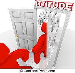 態度, 変化する, 達成, 成功, 人々