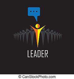 成功, -, 勝者, icons., ベクトル, リーダーシップ, リーダー