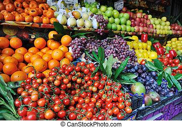 成果, 新しい 市場, 野菜