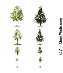 成長する, デザイン, 段階, 木, あなたの