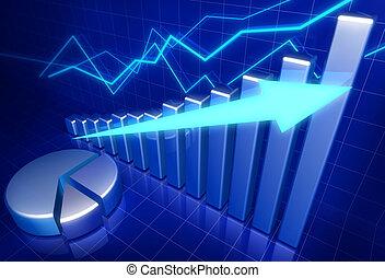 成長, ビジネス 概念, 財政