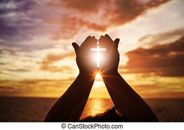 戦い, eucharist, 開いた, やし, 勝利, 人間, 神, カトリック教, の上, repent, キリスト教徒, イースター, 概念, 助力, 貸された, 手, 心, バックグラウンド。, pray., 祝福しなさい, 宗教, worship., 療法