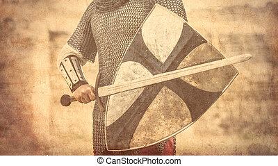 戦士, 保護, 剣
