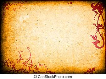 手ざわり, 花, スタイル, 背景, フレーム