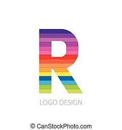 手紙, ロゴ, ベクトル, イラスト, カラフルである
