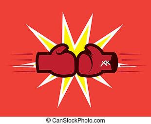 手袋, ヒッティング, ボクシング