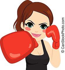手袋, ボクシング, 女