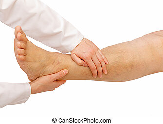 手足, より低い, 検査
