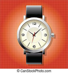 手首, 人, 腕時計, アナログ, クラシック
