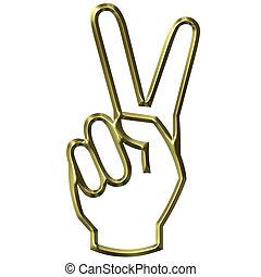 手, 勝利の印