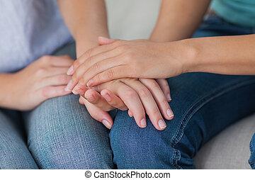 手, 友人, 感動的である, 終わり
