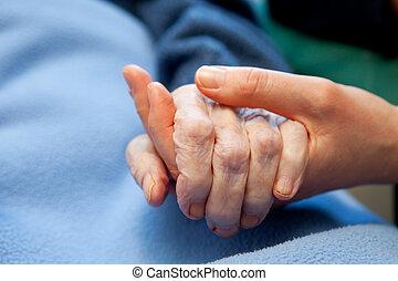 手, 古い, 年配の心配