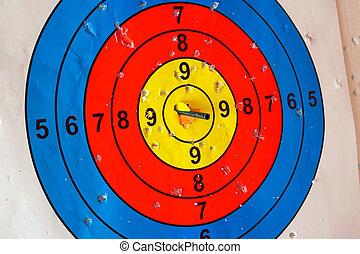 打撃, 中心, 矢, ターゲット, 穴