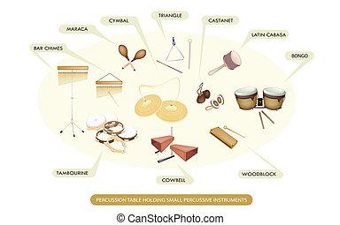 打楽器, セット, 道具, バンド, symphonic