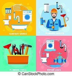 技術者, 衛生, 概念, デザイン