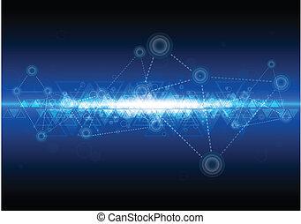 技術, ネットワーク, 背景, デジタル