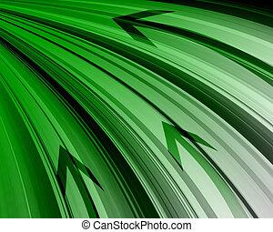 技術, 抽象的, 緑, バックグラウンド。