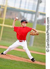 投げる, 水差し, pitch., 赤