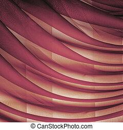 折り畳める, 横, organza, カーテン, 背景