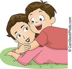 抱擁, お母さん, 息子