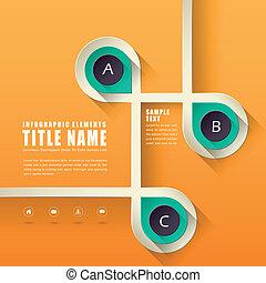 抽象的なデザイン, infographics