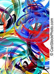 抽象的な絵, 背景, スタイルを作られる