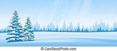 抽象的な風景, 冬