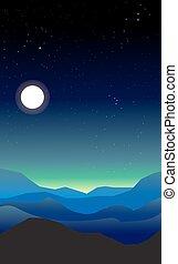 抽象的な風景, 夜