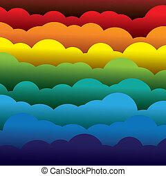 抽象的, オレンジ, 色, ペーパー, (backdrop), 層, ∥含んでいる∥, -, 黄色, graphic., 3d, 青, カラフルである, 形作られる, イラスト, 背景, 使うこと, 赤, 雲, のように, これ, ベクトル, 緑