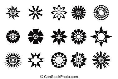 抽象的, セット, 星, collaction