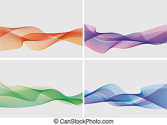 抽象的, セット, 背景, (vector)
