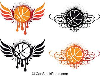 抽象的, ベクトル, バスケットボール