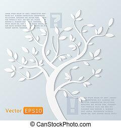 抽象的, ベクトル, 木