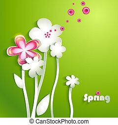 抽象的, ペーパー, 花