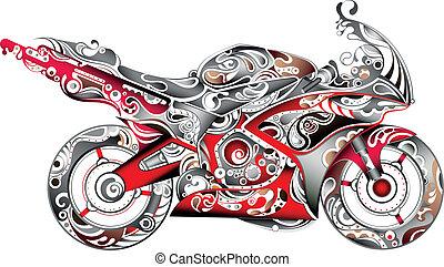 抽象的, モーターバイク