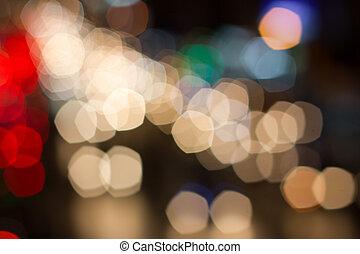 抽象的, ライト, ぼやけ, bokeh, 背景, 休日
