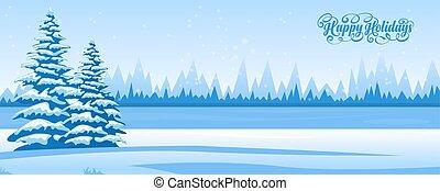 抽象的, 冬の景色