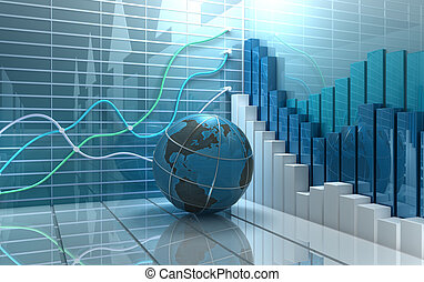 抽象的, 市場, 背景, 株