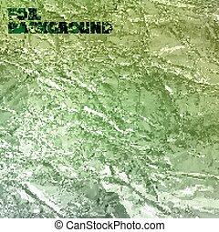 抽象的, 手ざわり, ホイル, ベクトル, 緑の背景