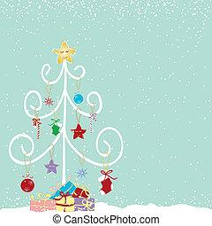 抽象的, 木, クリスマス, カラフルである